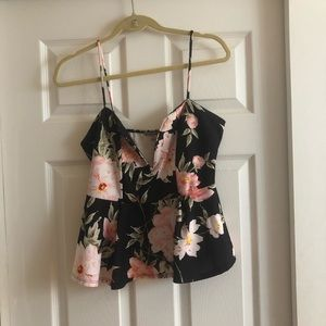 Charlotte Russe Floral Tank Top